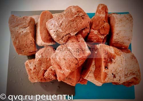 мясо обработанное солью